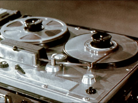 1956 Close up reel-to-reel tape recorder/ AUDIO