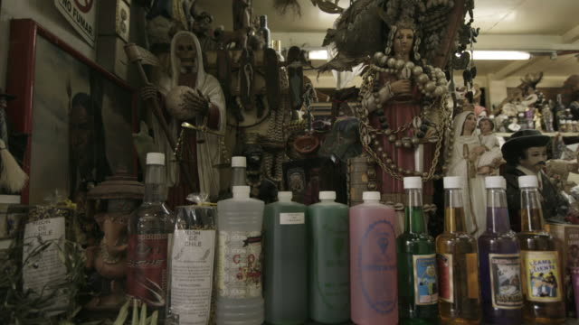 close up, religious artifacts at market in mexico - afterlife stock videos and b-roll footage