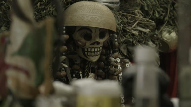 close up, religious skull figure in mexico - afterlife stock videos and b-roll footage