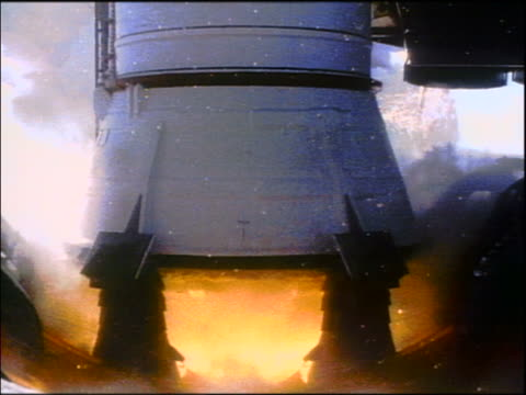 close up rockets igniting on space shuttle challenger on launch pad / huge plume of smoke - 1986 stock videos & royalty-free footage