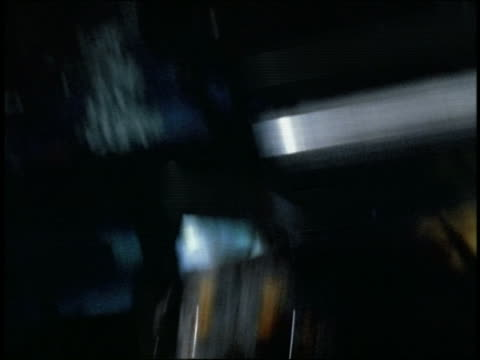 shaky close up rottweiler barking in front seat of police car at night - shaky stock videos & royalty-free footage