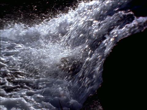 close up rushing water in stream / Lake Tahoe, California