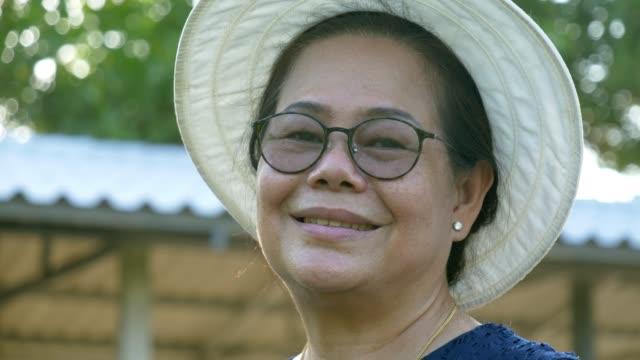 vídeos de stock e filmes b-roll de close up senior women - povo tailandês