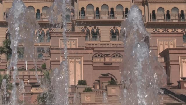 close up shot. emirates palace hotel in abu dhabi, capital of the united arab emirates. outside and inside views, shot on nov 1st 2012. - palace stock videos & royalty-free footage
