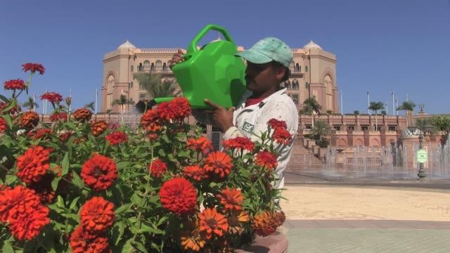 vídeos y material grabado en eventos de stock de close up shot emirates palace hotel in abu dhabi capital of the united arab emirates outside and inside views shot on nov 1st 2012 - crisantemo