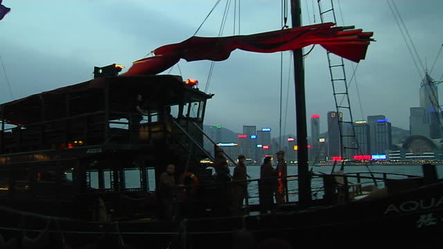 close up shot ferry in a aberdeen harbour hong kong kwangtung china - aberdeen hong kong stock videos & royalty-free footage