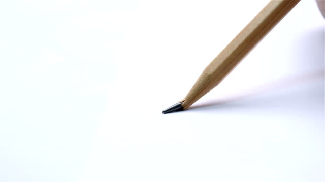 close up shot of pencil breaking while writing - broken pencil stock videos & royalty-free footage
