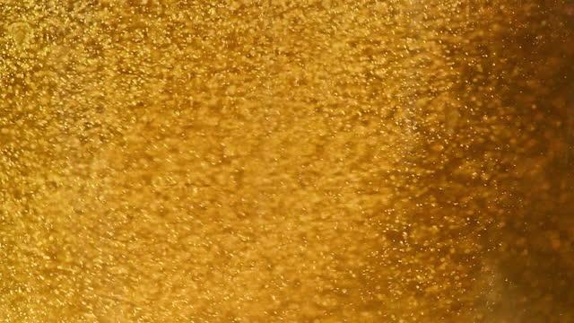 närbild skott av att hälla öl i ett glas med bubblor - ölglas bildbanksvideor och videomaterial från bakom kulisserna