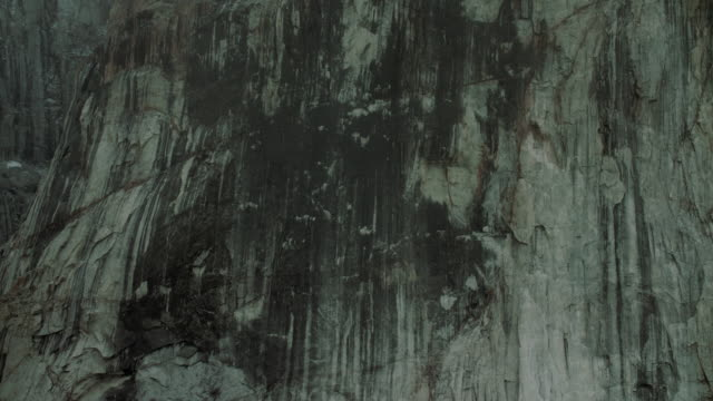 Close Up Shot Of Steep Stone Cliff