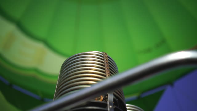 close up shot of the engine of a hot air balloon fire - hot air balloon stock videos & royalty-free footage