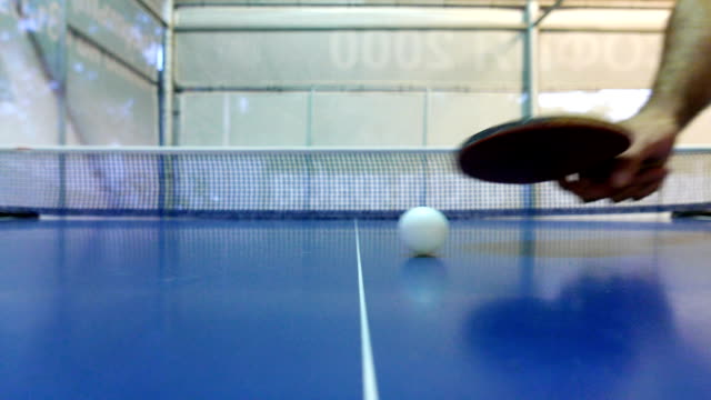 close up shot of two guys taking the table tennis rackets before a game - table tennis bat stock videos & royalty-free footage