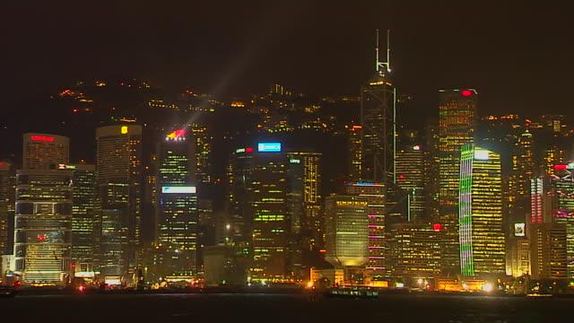 close up shot symphony of lights hong kong kwangtung china - aberdeen hong kong stock videos & royalty-free footage