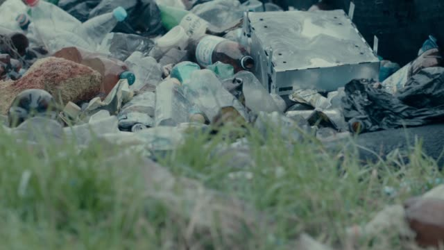 close up shot that focuses on a pile of plastic bottles and other metal scraps in sevastopol crimea - sevastopol crimea stock videos and b-roll footage