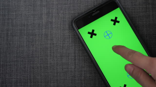 Close up smart phone chroma key