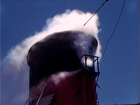 1939 Close up smokestack on steamship/ China