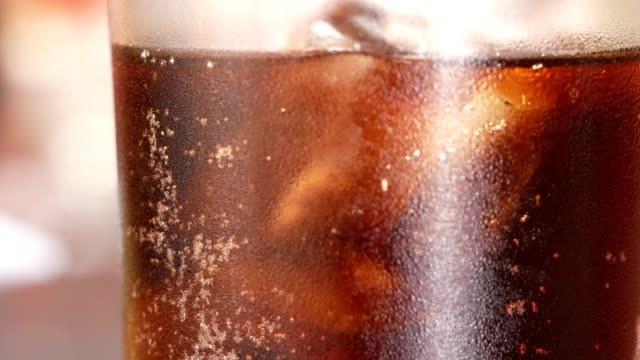 close up soft drink in glass - cold drink stock videos & royalty-free footage