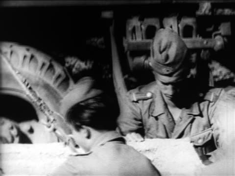 close up soldiers guiding concrete slab onto mortar-covered wall / berlin wall construction - wall building feature stock videos & royalty-free footage