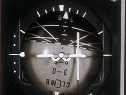 vidéos et rushes de close up spherical aircraft gauge spinning around - boussole