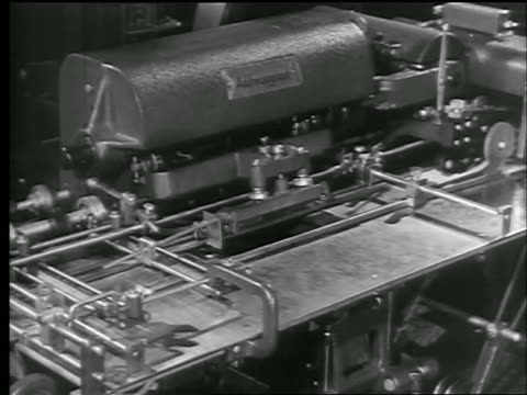 b/w 1944 close up stamping machine for issuance of war bonds / world war ii / newsreel - 1944 stock videos and b-roll footage