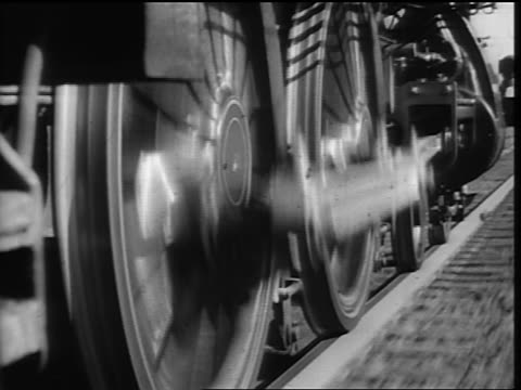 b/w close up steam train wheels moving - locomotive stock videos & royalty-free footage