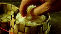 Close up sticky rice