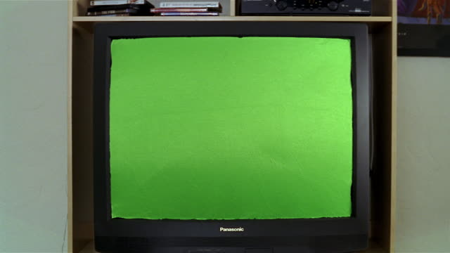 close up television with green screen - television chroma key stock videos & royalty-free footage