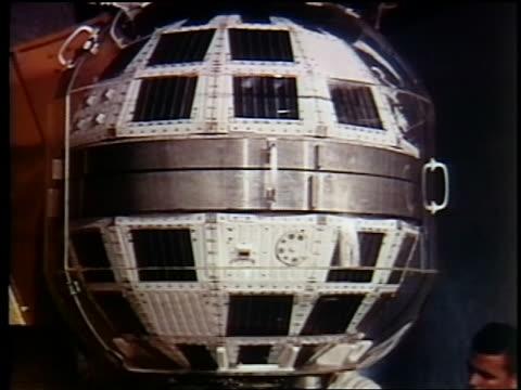 1962 close up telstar / documentary - telstar stock-videos und b-roll-filmmaterial