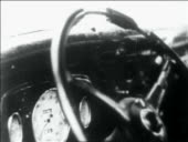 Close up tilt down car steering wheel dashboard full of bullet holes video id2017 491?s=170x170