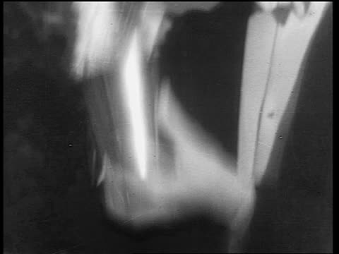 b/w 1933 close up tilt up man in formalwear shaking drink in cocktail shaker / end of prohibition - 1933年点の映像素材/bロール