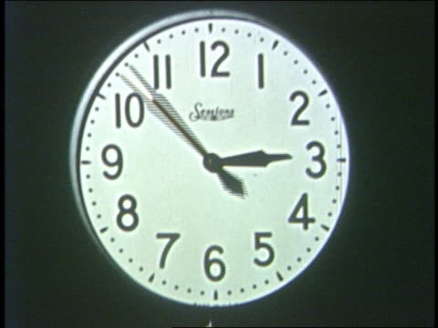 1950 close up time lapse clock moving counter clockwise - changing clock stock videos and b-roll footage