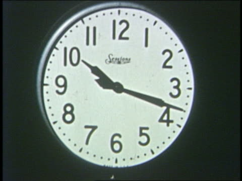 1950 close up time lapse clock moving quickly clockwise - clock stock videos & royalty-free footage