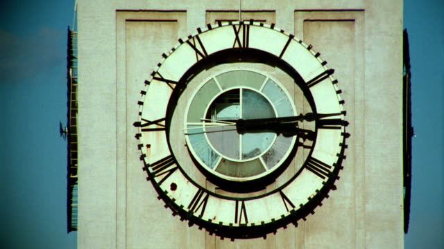close up time lapse hands of clock on clock tower at ferry building / san francisco - san francisco ferry building stock videos & royalty-free footage