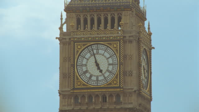 close up time lapse moving hands on clock face of big ben clock tower / london, england - clock tower stock videos & royalty-free footage