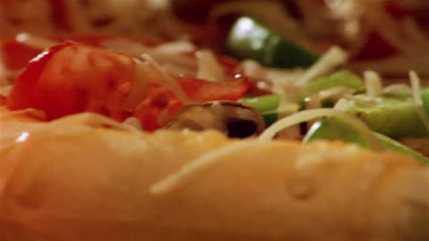close up time lapse pizza baking in oven - pizza stock videos & royalty-free footage