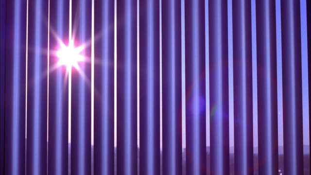 close up time lapse sun setting through cracks in vertical window blinds - blinds stock videos & royalty-free footage