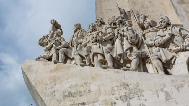 Close up timelapse of Padrão dos Descobrimentos in Lisbon