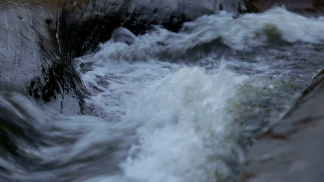 Close up to flowing water in nature.
