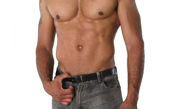 close up torso of shirtless muscular man posing - torso stock videos & royalty-free footage