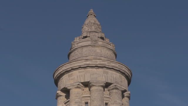 close up tower of fraternity monument / war memorial  in Eisenach