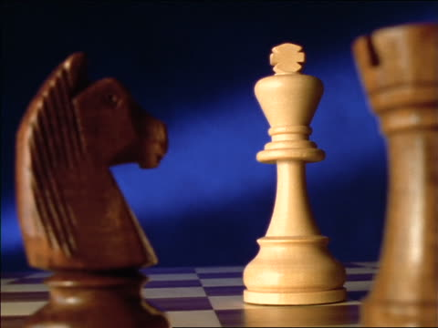 close up tracking shot of chess pieces - chess stock videos & royalty-free footage