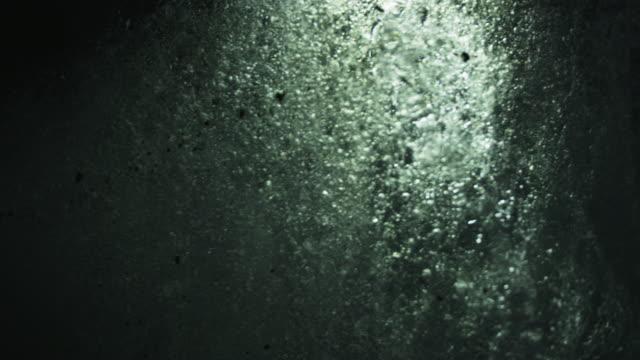 Close up, underneath glacier at night