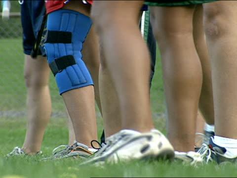 close up - leg brace stock videos and b-roll footage