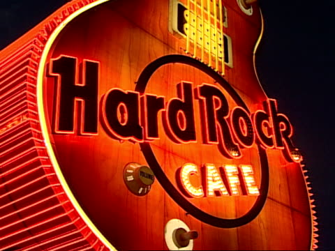 close up - hard rock cafe stock videos & royalty-free footage