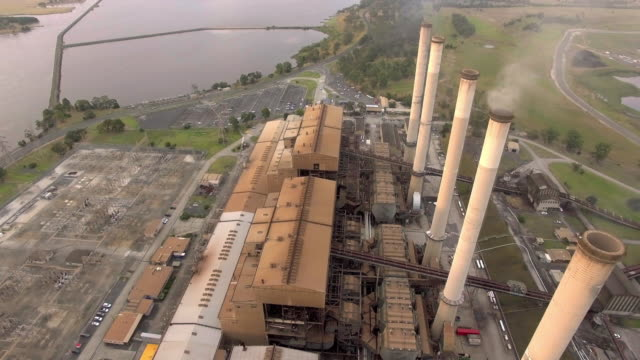 a close up view above the hazelwood power station in the latrobe valley, victoria. - david ewing stock videos & royalty-free footage