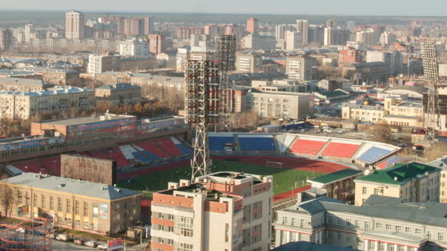 TL Close -up view of the Spartak Stadium / Russia, Novosibirsk