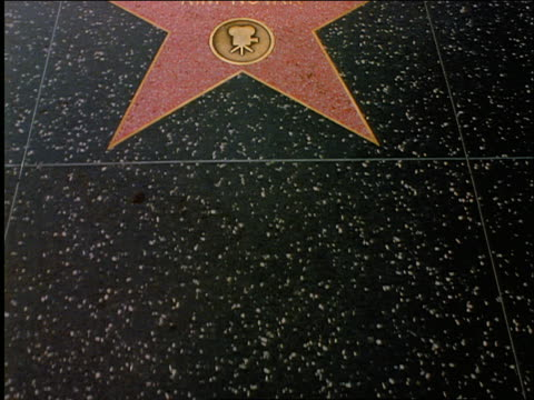stockvideo's en b-roll-footage met close up walking point of view of hollywood's walk of fame / kim novak's name - hollywood walk of fame