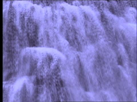 close up PAN of waterfall