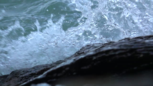 close up wave on beach super slow motion - wake water stock videos & royalty-free footage