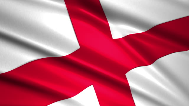 close up waving flag of England,loopable