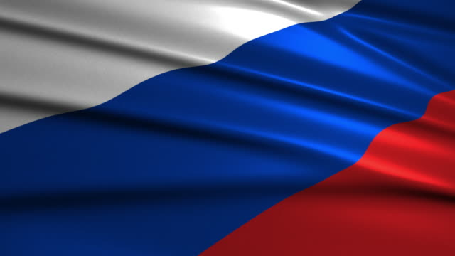 close up waving flag of Russia,loopable